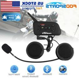 1200m 6 Riders BT Intercom Bluetooth Motorcycle Helmet Inter