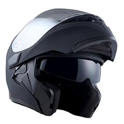1Storm Motorcycle Modular Full Face Helmet Flip up Dual Viso