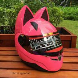 5 Colors Female Motorcycle Helmet Motorbike  Women Cat Ears