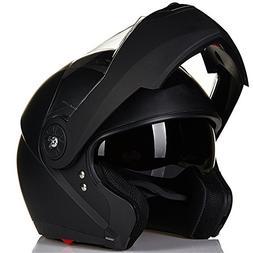 ILM 8 Colors Motorcycle Modular Flip up Dual Visor Helmet DO