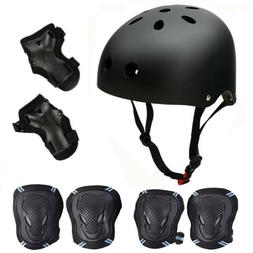 Adult Kids Helmet Knee Elbow Wrist Pads Protector Gear  Bike