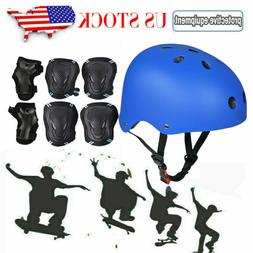 Adult Kids Protective Bike Helmet Protector Gear Set Cycling