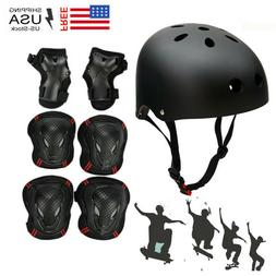 Adult Protective Bike Helmet Protect Gear Set Cycling Roller