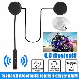 Bluetooth 5.0 Helmet Motorcycle Headset Speakers Handsfree w