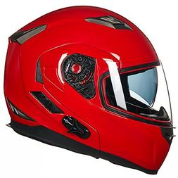 ILM Bluetooth Integrated Modular Flip up Full Face Motorcycl