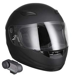 bluetooth motorcycle face helmet wireless