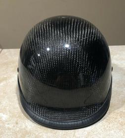 HCI DOT HCI 105 Motorcycle Carbon Fiber Helmet  Black  Sz L