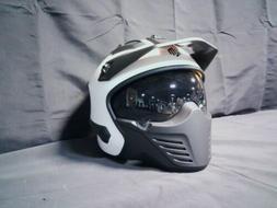 DOT ILM-726X Shiny White Motorcycle Helmet Size Medium White