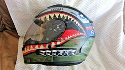 Bell Flying Tiger fighter motorcycle full face helmet
