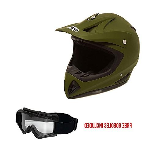 Adult Motorcycle Off Road Helmet DOT - MX ATV Dirt Bike Moto