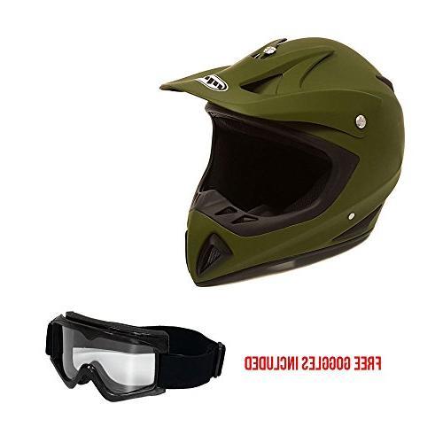 Adult Motorcycle Off Road Helmet DOT - MX ATV Dirt Bike Moto