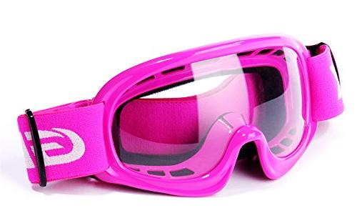 GLX DOT Youth Kids Motocross Helmet Road Pink+Goggles+Gloves