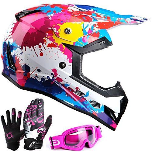 GLX DOT Youth Kids Motocross ATV Dirt Bike Helmet Off Road G