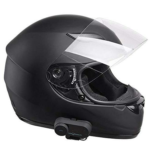 Yescom Bluetooth Motorcycle Face Helmet with Headset Intercom MP3