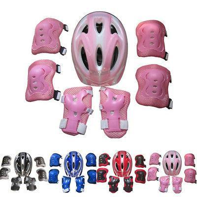 Kid Scooter Skateboard Bike Protective Gear Set Helmet And K