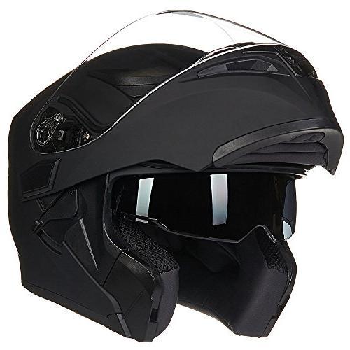motorcycle dual visor flip up modular full