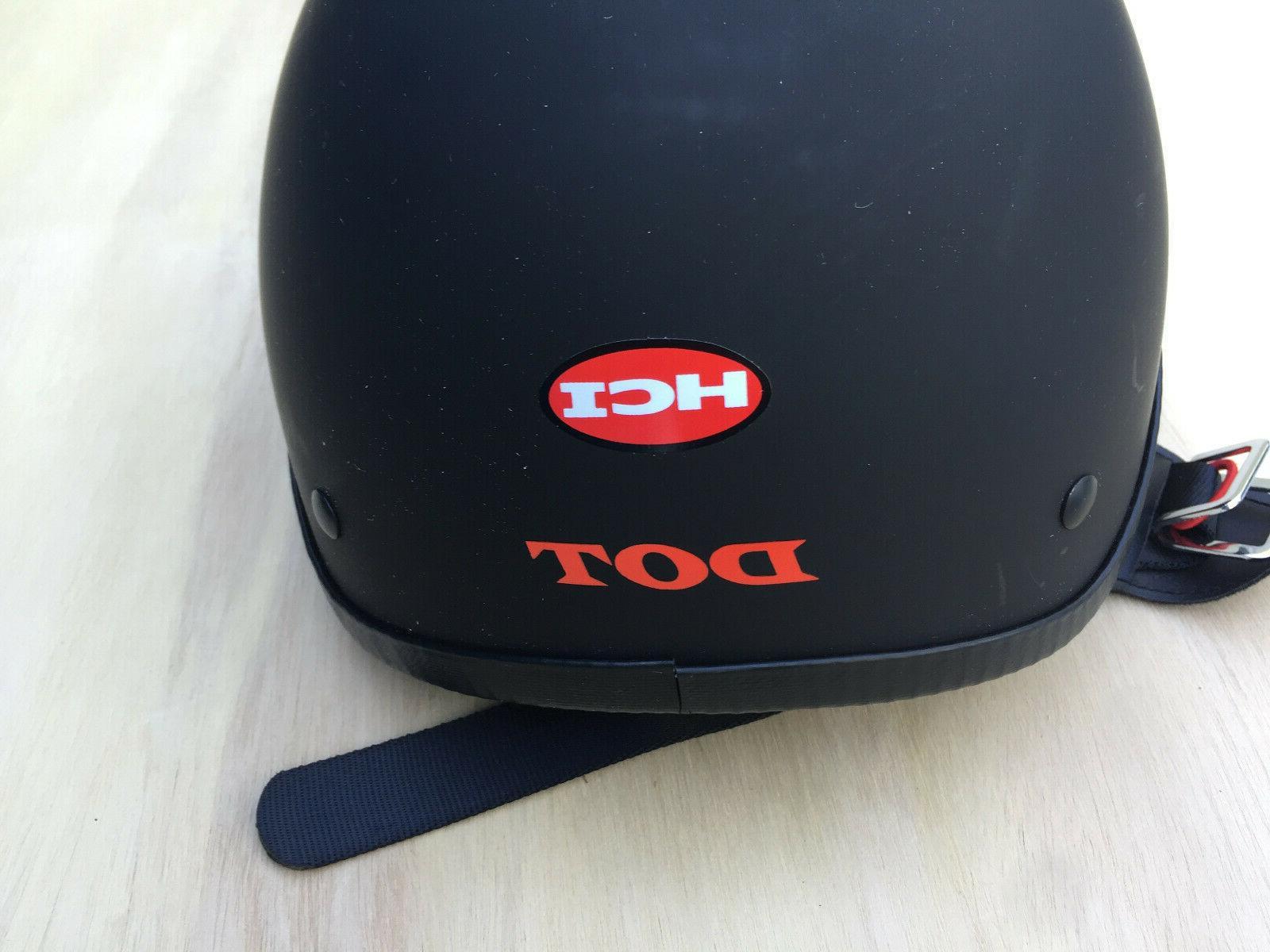 HCI Motorcycle Helmet Black DOT Size