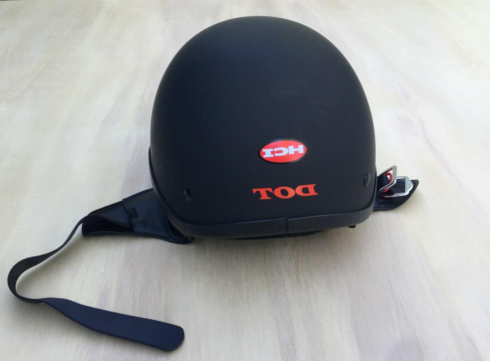 motorcycle helmet matte black dot size l