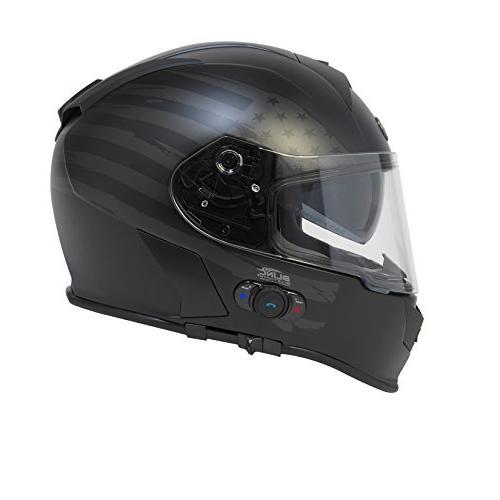 Mako Full Face Helmet with Flag Graphic