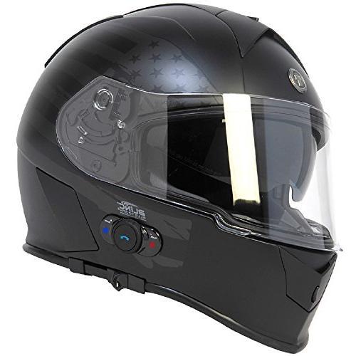 t14b bluetooth integrated mako full face helmet