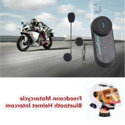 Freedconn Motorcycle Bluetooth Helmet Intercom Kit BT Interp