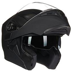ILM Motorcycle Dual Visor Flip up Modular Full Face Helmet D