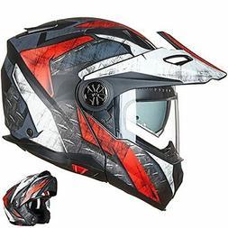 ILM Motorcycle Full Face Modular ATV Helmet Three in One Cas