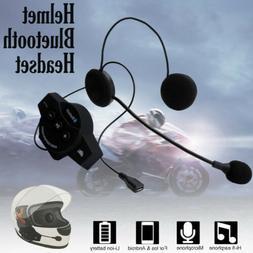 Motorcycle Helmet Headset Speakers Mic Bluetooth Intercoms I