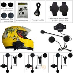 Motorcycle Helmet Headset Speakers Mic Intercoms Interphone