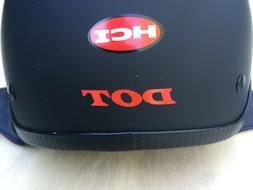 HCI Motorcycle Helmet Matte Black DOT Size M