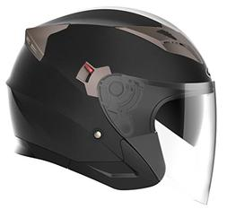 Motorcycle Open Face Helmet DOT Approved - YEMA YM-627 Motor