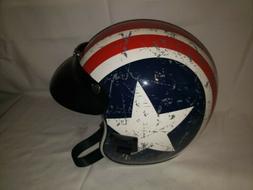 Torc Helmet open face T-50 size L 59-60 cm removable visor.
