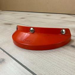 Vintage Bell Motorcycle Helmet Visor Orange 520, Snap On