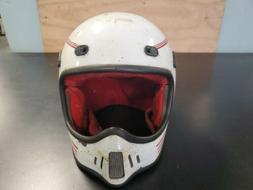 Vintage Bell TNT  Helmet White / Red Mens  moto motorcycle m