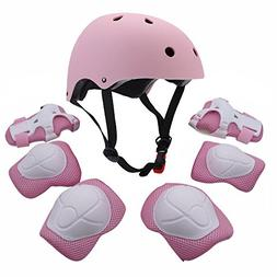 F&U Kids Youth Sports Protective Gear Set with Helmet Elbow